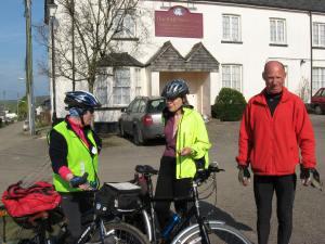 Sue, and Chris. Sustrans volunteers in North Devon