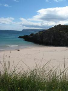 Scotland's west coast is famous for its beaches. :)
