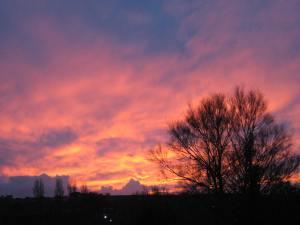 Sunset over Barnstaple, N.Devon.