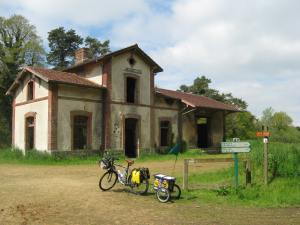 Disused Railway station. French style.