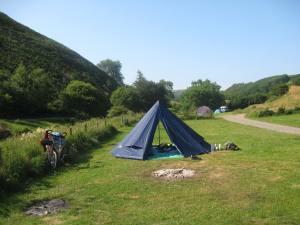 Teepee at Cloud Farm campsite, North Devon