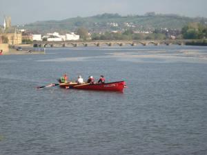 Pilot gig on the Taw estuary