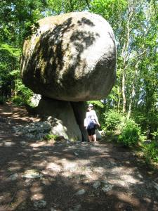 Strange and wonderful rock formation at Huelgoat, Brittany.