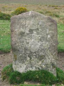 Ancient waymarker/milestone on Dartmoor