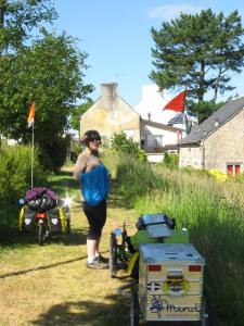 Brittany 2014. Taking a breather.